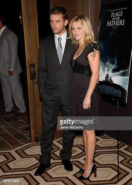 Ryan Phillippe and Reese Witherspoon during 'Flags of Our Fathers' New York City Screening Presented by The Cinema Society and Zenith Watches Inside...