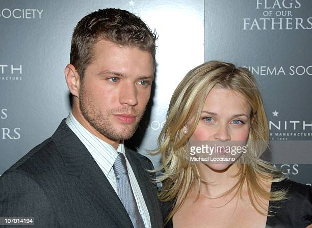 Ryan Phillippe and Reese Witherspoon during 'Flags Of Our Fathers' Special New York Screening Presented By The Cinema Society and Zenith Watches at...