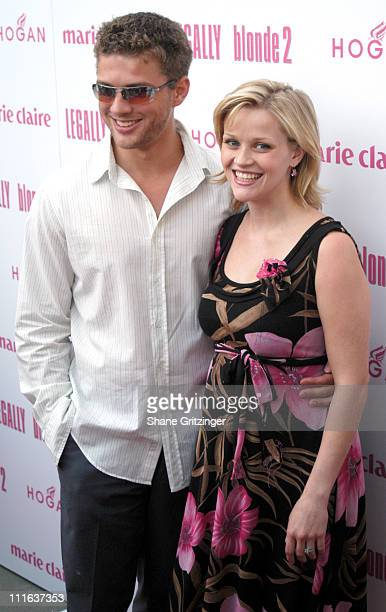 Ryan Phillippe and Reese Witherspoon during Legally Blonde 2 Red White Blonde Special Screening at United Artists Southampton Theater in Southampton...