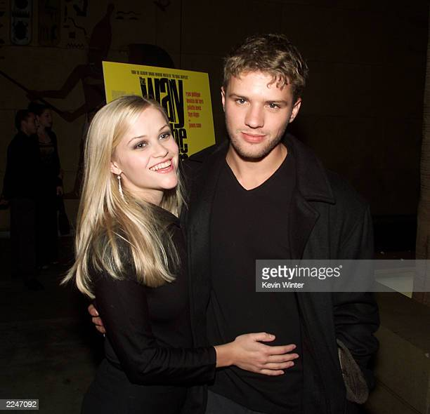 Ryan Phillippe and wife Reese Witherspoon at the premiere of 'The Way of the Gun' at the Egyptian Theater in Hollywood Ca 8/29/00Photo Kevin...
