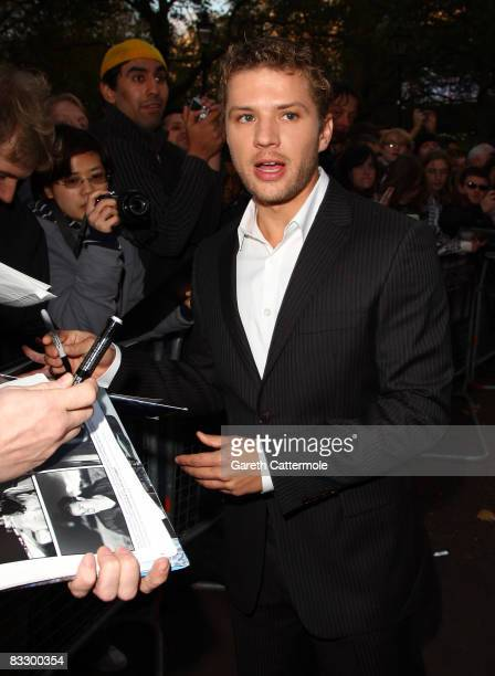 Ryan Phillippe arrives at the World Premiere of 'Franklyn' during the BFI 52nd London Film Festival at Odeon West End on October 16 2008 in London...