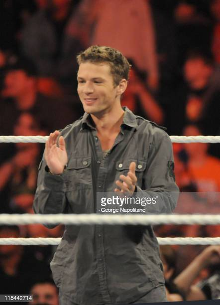 Ryan Phillippe at the WWE Monday night Raw at the Izod Center on April 19 2010 in East Rutherford New Jersey