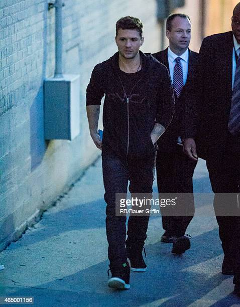 Ryan Phillippe is seen at 'Jimmy Kimmel Live' on March 02 2015 in Los Angeles California