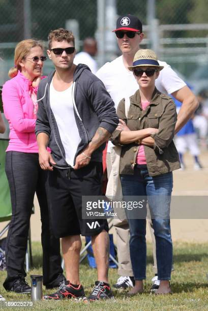Ryan Phillippe Jim Toth aand Reese Witherspoon as seen on May 18 2013 in Los Angeles California