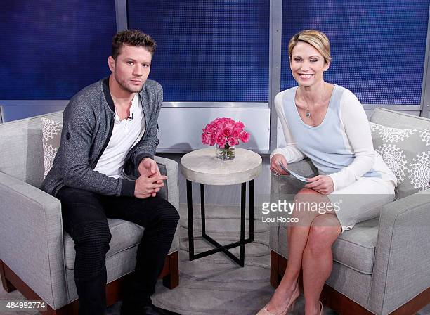 AMERICA Ryan Phillippe of Walt Disney Television via Getty Images's Secrets and Lies is a guest on Good Morning America 2/26/15 airing on the Walt...