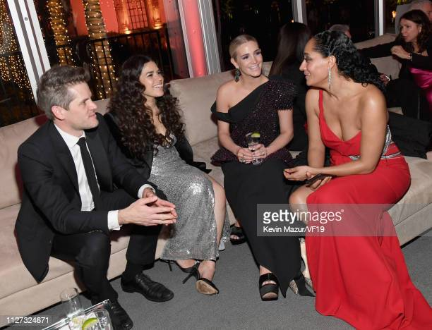 Ryan Piers Williams America Ferrera Ashlee Simpson and Tracee Ellis Ross attend the 2019 Vanity Fair Oscar Party hosted by Radhika Jones at Wallis...