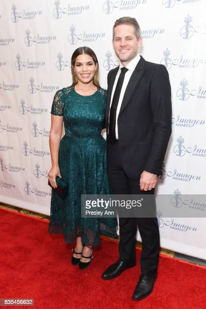 Ryan Piers Williams and America Ferrera attend 32nd Annual Imagen Awards Red Carpet at the Beverly Wilshire Four Seasons Hotel on August 18 2017 in...