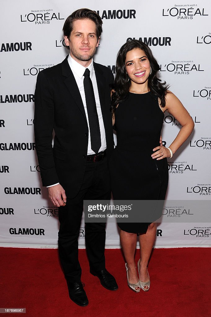 Ryan Piers Williams and America Ferrera attend Glamour's 23rd annual Women of the Year awards on November 11, 2013 in New York City.