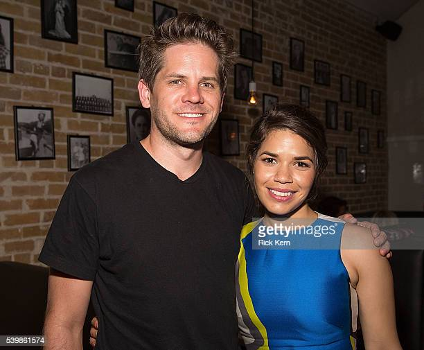Ryan Piers Williams and America Ferrera attend the Ugly Betty Reunion After Party presented with Entertainment Weekly sponsored by Toyota at the ATX...