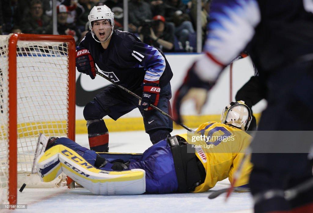 Sweden v United States - 2019 IIHF World Junior Championship : News Photo