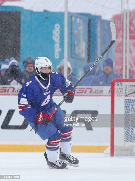 Ryan Poehling of United States during the IIHF World Junior Championship at New Era Field against Canada on December 29 2017 in Buffalo New York The...