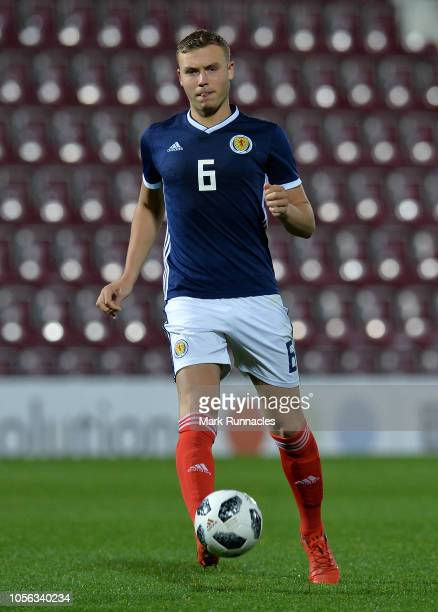 Ryan Porteous of Scotland U21 in action during the 2019 UEFA European Under21 Championship Qualifier between Scotland U21 and England U21 at...