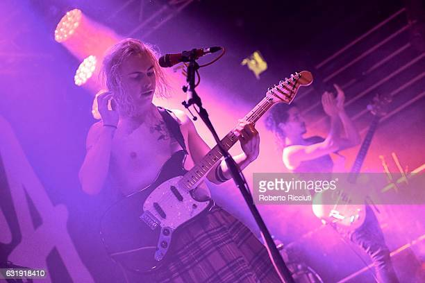 Ryan Potter and Jermaine Angin of The Hunna perform on stage at The Liquid Room on January 17 2017 in Edinburgh Scotland