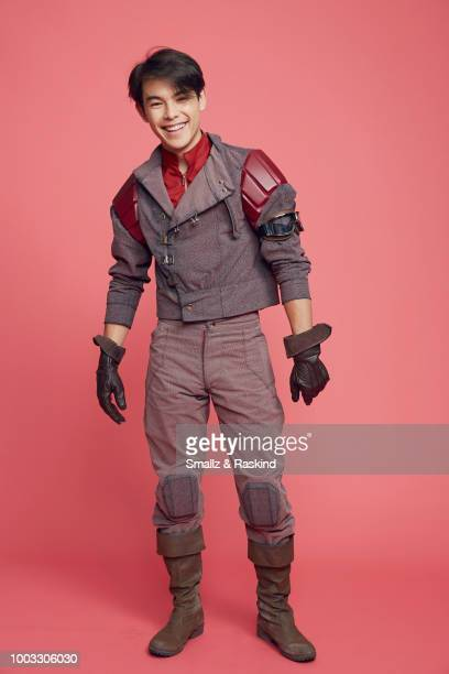 Ryan Potter from Disney's 'Big Hero 6' poses for a portrait at the Getty Images Portrait Studio powered by Pizza Hut at San Diego 2018 Comic Con at...