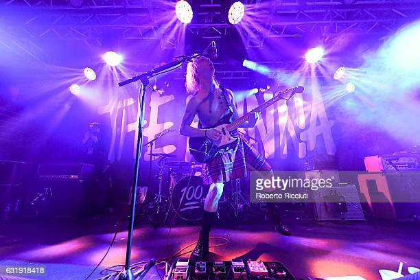 Ryan Potter of The Hunna performs on stage at The Liquid Room on January 17, 2017 in Edinburgh, Scotland.