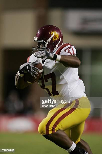Ryan Powdrell of the University of Southern California Trojans runs with the ball against the Arkansas Razorbacks on September 2, 2006 at Donald W....