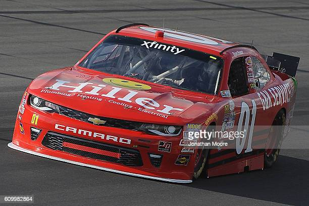 Ryan Preece driver of the GK Services Chevrolet on track during practice for the NASCAR XFINITY Series VysitMyrtleBeachcom 300 at Kentucky Speedway...