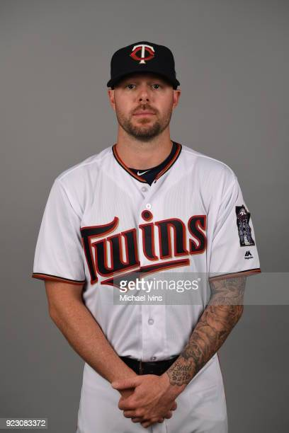 Ryan Pressly of the Minnesota Twins poses during Photo Day on Wednesday February 21 2018 at CenturyLink Sports Complex in Fort Myers Florida