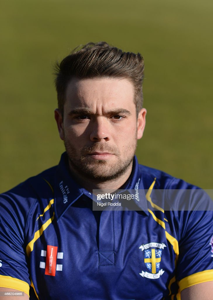 Ryan Pringle of Durham poses for a portrait during the Durham CCC Photocall at The Riverside on March 31, 2015 in Chester-le-Street, England.