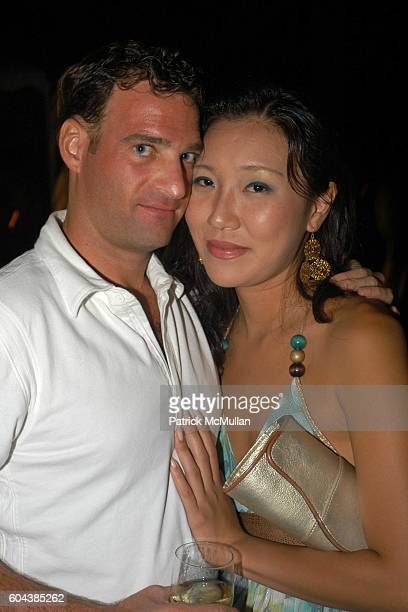 Ryan Q and Rose Jang attend Cocktail Party With Steven Schonfeld Celebrating Mindy Greenblatt's Birthday at Watermill on August 19 2006