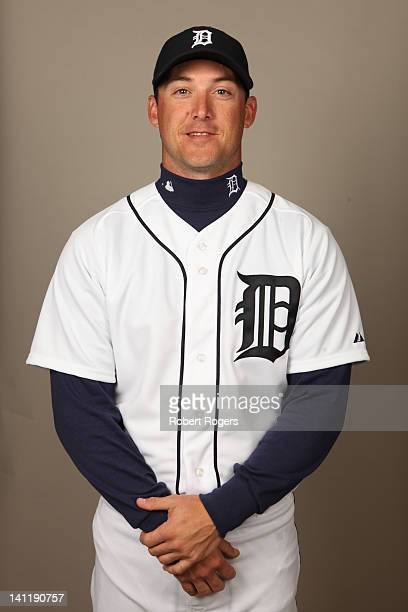 Ryan Raburn of the Detroit Tigers poses during Photo Day on Tuesday February 28 2012 at Joker Marchant Stadium in Lakeland Florida