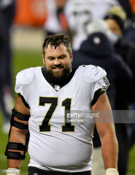 Ryan Ramczyk of the New Orleans Saints after the game against the Chicago Bears at Soldier Field on November 01, 2020 in Chicago, Illinois.