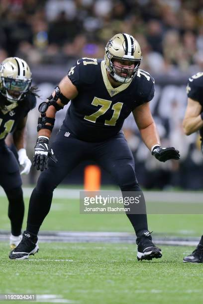Ryan Ramczyk of the New Orleans Saints in action against the San Francisco 49ers during a game at the Mercedes Benz Superdome on December 08, 2019 in...