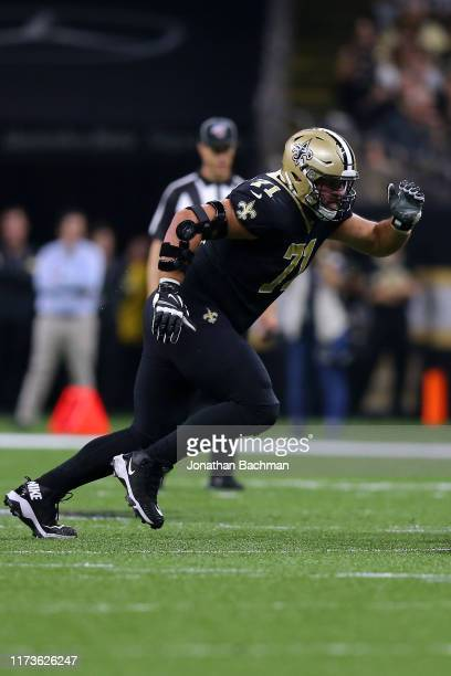 Ryan Ramczyk of the New Orleans Saints in action during a game against the Houston Texans at the Mercedes Benz Superdome on September 09, 2019 in New...