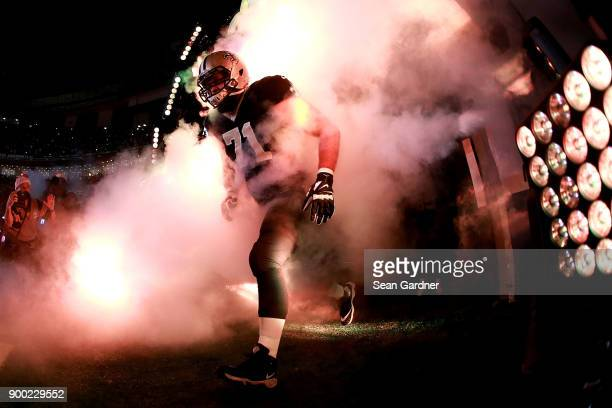 Ryan Ramczyk of the New Orleans Saints runs onto the field during prior to a a game against the Atlanta Falcons at the Mercedes-Benz Superdome on...