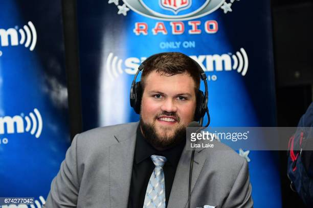 Ryan Ramczyk of Wisconsin visits the SiriusXM NFL Radio talkshow after being picked overall by the New Orleans Saints during the first round of 2017...