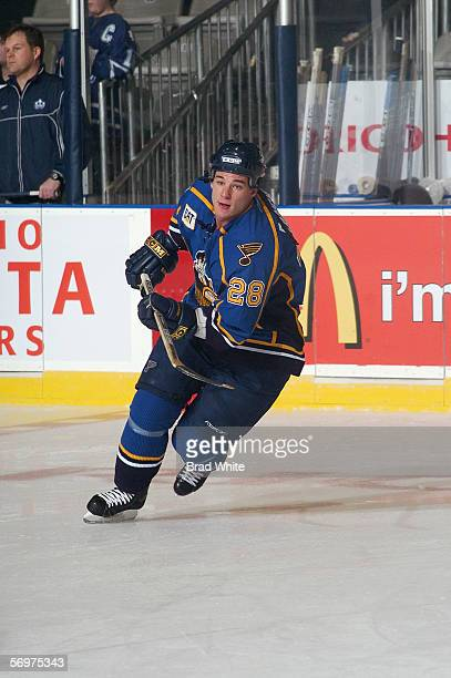 Ryan Ramsay of the Peoria Rivermen skates against the Toronto Marlies at Ricoh Coliseum on February 3 2006 in Toronto Ontario Canada The Rivermen won...