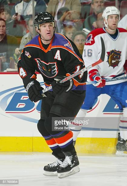 Ryan Ready of the Philadelphia Phantoms skates against the Hamilton Bulldogs during the American Hockey League game on October 22 2004 at Wachovia...