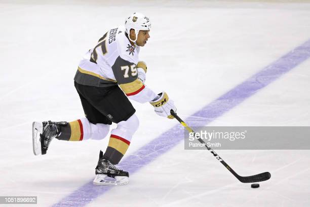 Ryan Reaves of the Vegas Golden Knights in action against the Washington Capitals during the first period at Capital One Arena on October 10 2018 in...
