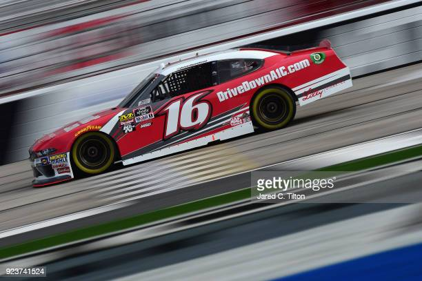 Ryan Reed driver of the Drive Down A1C Lilly Diabetes Ford qualifies for the NASCAR Xfinity Series Rinnai 250 at Atlanta Motor Speedway on February...