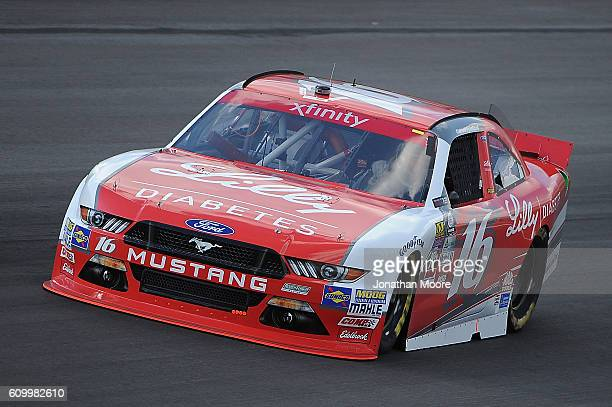 Ryan Reed driver of the Lilly Diabetes / American Diabetes Association Ford Mustang Ford on track during practice for the NASCAR XFINITY Series...