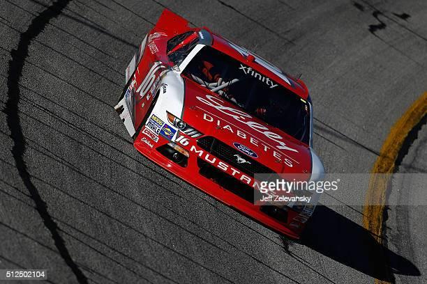 Ryan Reed driver of the Lilly Diabetes/American Diabetes Association Ford practices for the NASCAR XFINITY Series Heads Up Georgia 250 at Atlanta...