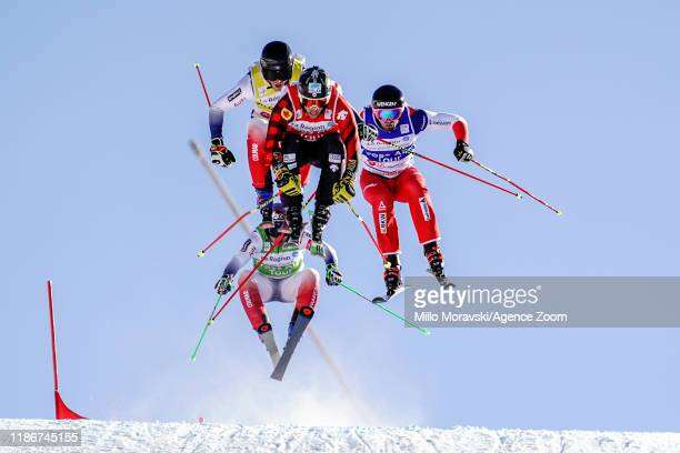 Ryan Regez of Switzerland in action, Jean Frederic Chapuis of France in action, Youri Duplessis Kergomard of France in action, Kevin Drury of Canada...