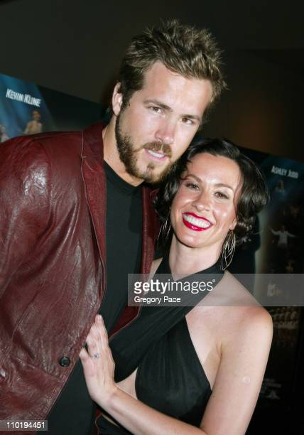 Ryan Reynolds and Alanis Morissette during 'DeLovely' New York Premiere Inside at Loews Lincoln Square in New York City New York United States