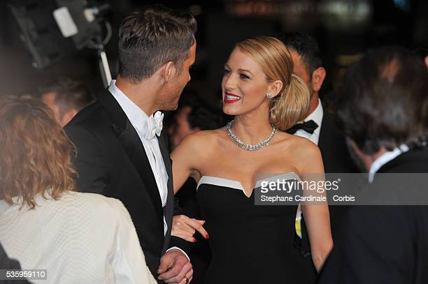 Ryan Reynolds and Blake Lively at 'The Captive' premiere during the 67th Cannes Film Festival