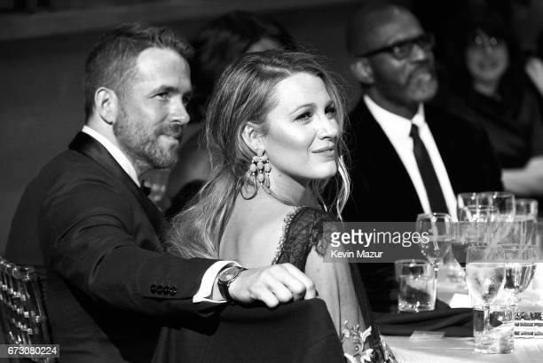 Ryan Reynolds and Blake Lively attend 2017 Time 100 Gala at Jazz at Lincoln Center on April 25 2017 in New York City