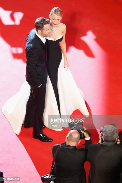 Ryan Reynolds and Blake Lively attend the 'Captives' premiere during the 67th Annual Cannes Film Festival on May 16 2014 in Cannes France