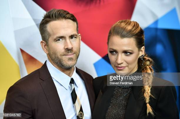 Ryan Reynolds and Blake Lively attend the New York premier of A Simple Favor at Museum of Modern Art on September 10 2018 in New York City