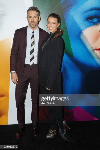 Ryan Reynolds and Blake Lively attend the New York premiere of A Simple Favor at Museum of Modern Art on September 10 2018 in New York City