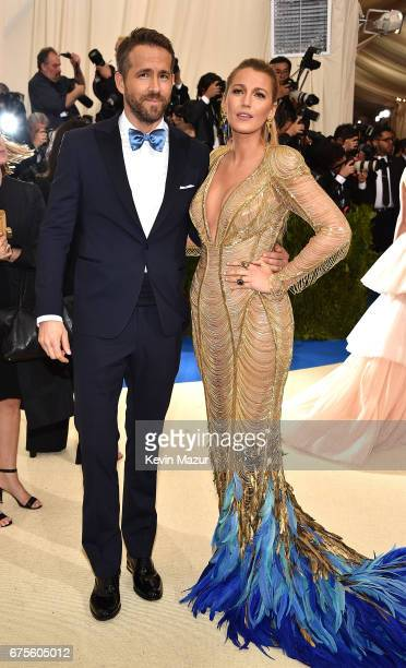 Ryan Reynolds and Blake Lively attend the 'Rei Kawakubo/Comme des Garcons Art Of The InBetween' Costume Institute Gala at Metropolitan Museum of Art...