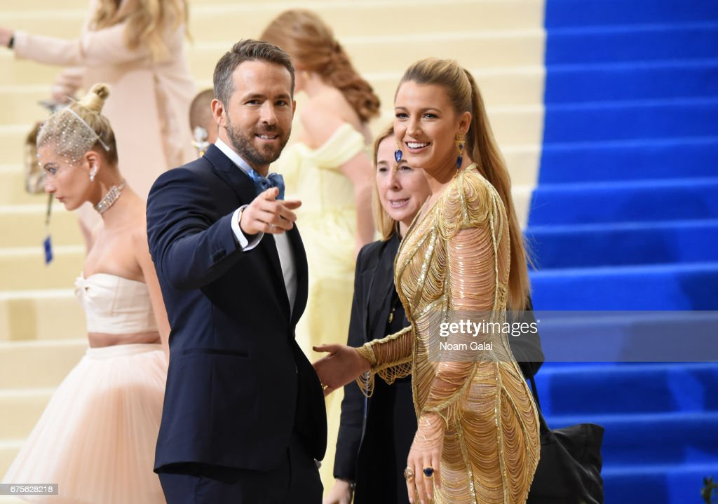 Ryan Reynolds and Blake Lively attend the 'Rei Kawakubo/Comme des Garcons: Art Of The In-Between' Costume Institute Gala at Metropolitan Museum of Art on May 1, 2017 in New York City.
