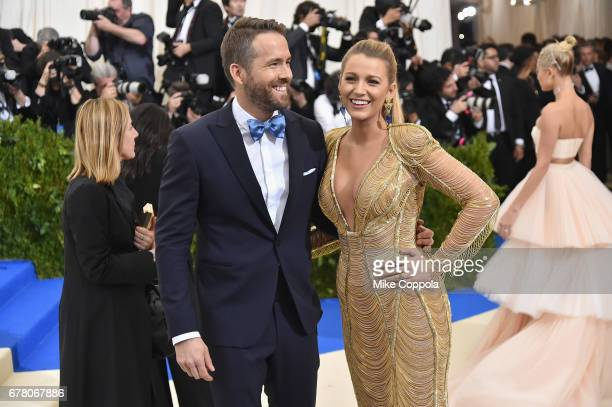 Ryan Reynolds and Blake Lively attend the Rei Kawakubo/Comme des Garcons Art Of The InBetween Costume Institute Gala at Metropolitan Museum of Art on...
