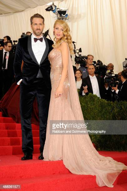 Ryan Reynolds and Blake Lively attends the 'Charles James Beyond Fashion' Costume Institute Gala>> at the Metropolitan Museum of Art on May 5 2014 in...