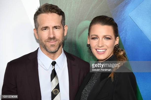 Ryan Reynolds and Blake Lively attends the New York premier of A Simple Favor at Museum of Modern Art on September 10 2018 in New York City