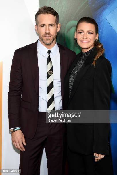 """Ryan Reynolds and Blake Lively attends the New York premier of """"A Simple Favor"""" at Museum of Modern Art on September 10, 2018 in New York City."""