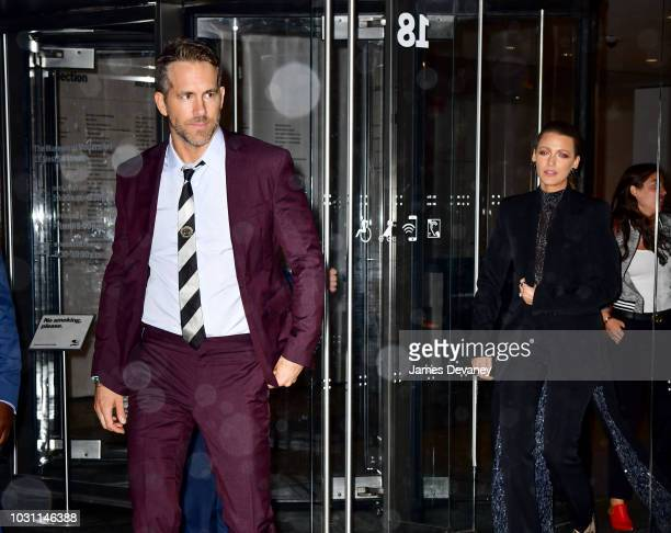 Ryan Reynolds and Blake Lively leave 'A Simple Favor' premiere at Museum of Modern Art on September 10 2018 in New York City